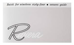 1964-1964 Riviera Owner's Manual, Riviera