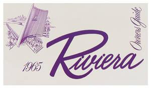 1965-1965 Riviera Owner's Manual, Riviera