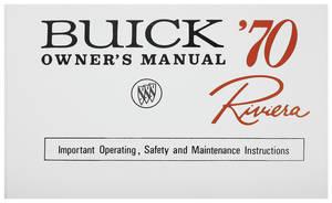 1970-1970 Riviera Owner's Manual, Riviera