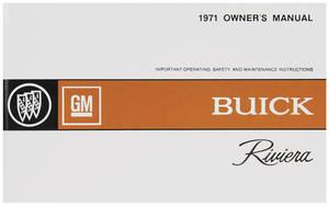 1971 Owner's Manual, Riviera