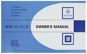 1974-1974 Riviera Owner's Manual, Riviera