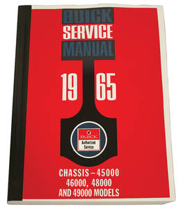 1965 Chassis Service Manuals, Riviera