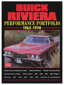1963-1978 Riviera Performance Portfolio, 1963-78 Buick Riviera