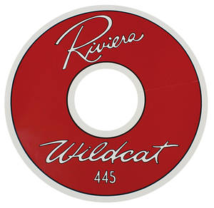 "1963 Air Cleaner Decal Riviera Wildcat 445 14"" Clear (Vinyl)"