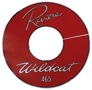 "1963 Air Cleaner Decal Riviera Wildcat 465 14"" Red (Vinyl)"