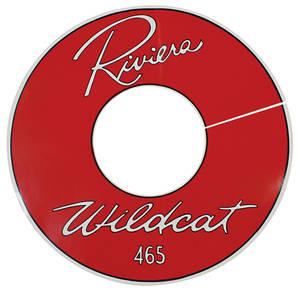 "1963-1963 Riviera Air Cleaner Decal Riviera Wildcat 465 14"" Clear (Vinyl)"