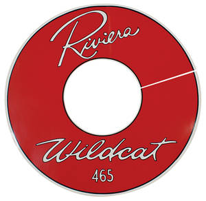 "1963 Air Cleaner Decal Riviera Wildcat 465 14"" Clear (Vinyl)"