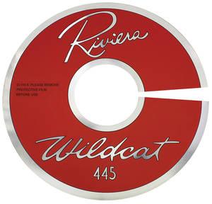 "1963 Air Cleaner Decal Riviera Wildcat 445 14"" Clear (Aluminum)"