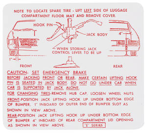 1966-1967 Riviera Jacking Instruction Decal (#1377003)