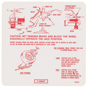 1972 Riviera Jacking Instruction Decal (#1239538)