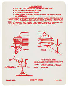 1973 Riviera Jacking Instruction Decal (#1242276)