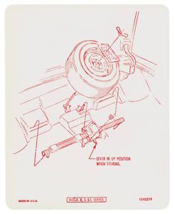 1973 Riviera Tire Stowage Decal Regular Wheel (#1242319)