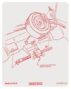 1974-1974 Riviera Tire Stowage Decal Regular Wheel (#1246615)