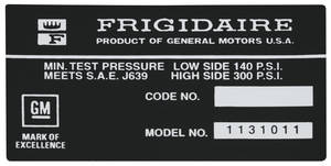 1972-73 Riviera Air Conditioning Compressor Decal (#1131011)