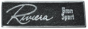 1965-1965 Riviera Dash Emblem, 1965 Riviera