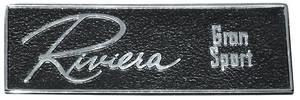 Dash Emblem, 1965 Riviera