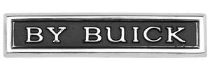 """Riviera Trunk Lid Emblem, 1966-67 """"By Buick"""""""