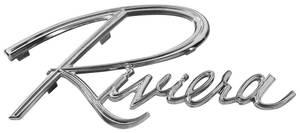 "Rear Panel Emblem, 1965 ""Riviera"""