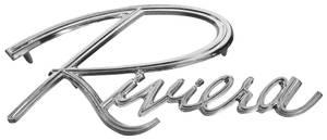 1966-1967 Riviera Trunk Panel Emblem, 1966-67