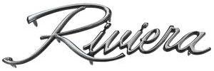 1971-1973 Riviera Fender Emblem, 1971-73