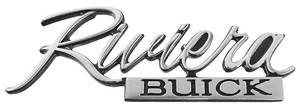 1973-1973 Riviera Trunk Panel Emblem, 1973