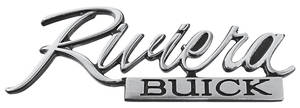 "Trunk Panel Emblem, 1973 ""Riviera"""