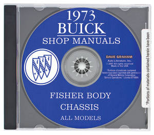 1973-1973 Riviera Buick Factory Shop Manuals On CD-ROM