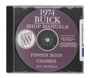 1974 Riviera Buick Factory Shop Manuals On CD-ROM