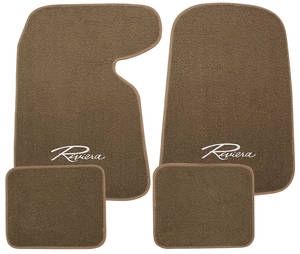 "1963-76 Floor Mats, Carpet Matched Oem Style Carpet ""Riviera"" Script, by Trim Parts"