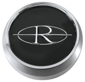 "1964-65 Riviera Wheel Center Cap 2"", Black"