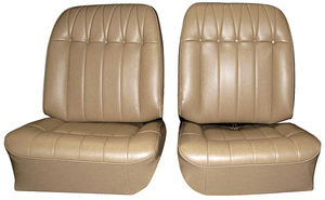 Seat Upholstery, 1965 Buick Riviera Custom Interior Front, Buckets