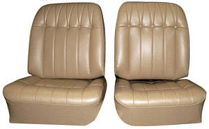 Seat Upholstery, 1965 Buick Riviera Custom Interior Front/Rear, Buckets