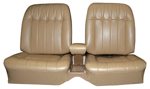 1965-1965 Riviera Seat Upholstery, 1965 Buick Riviera Custom Interior Rear, Buckets, by Distinctive Industries