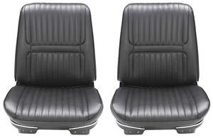 Seat Upholstery, 1967 Buick Riviera Custom Interior Front, Buckets