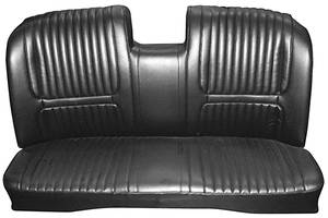 Seat Upholstery, 1967 Buick Riviera Custom Interior Bench (w/Center Armrest) w/Rear Seat