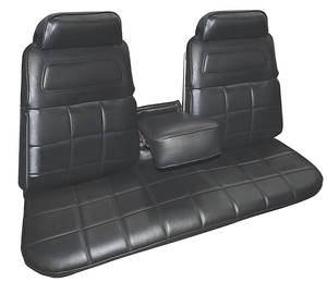 1969-1969 Riviera Seat Upholstery, 1969 Buick Riviera Custom Interior Front, Strato Bench w/Center Armrest, by Distinctive Industries