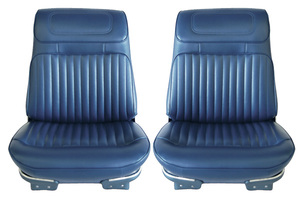 Seat Upholstery, 1970 Buick Riviera Custom Interior Front, Buckets