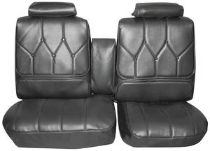 1971-1972 Riviera Seat Upholstery, 1971-72 Buick Riviera Custom Interior Rear Seat, by Distinctive Industries