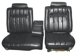 Seat Upholstery, 1973 Buick Riviera Custom Interior Split Bench w/Rear Seat, by Distinctive Industries
