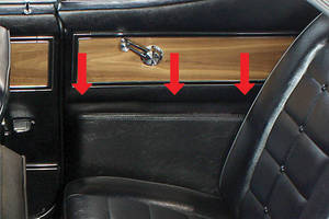 1963-64 Riviera Armrest Panel Cover, Rear
