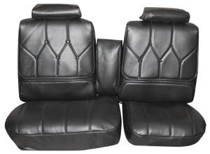 1971-1972 Riviera Seat Upholstery, 1971-72 Buick Riviera Custom Interior Split Bench (w/Center Armrest) w/Rear Seat, by Distinctive Industries