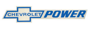 1978-88 Malibu Chevrolet Power Decal Blue