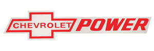 1964-77 Chevelle Chevrolet Power Decal Red