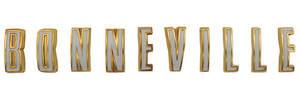 """1961-1961 Bonneville Fender Emblem, 1961 """"Bonneville"""" Letters"""