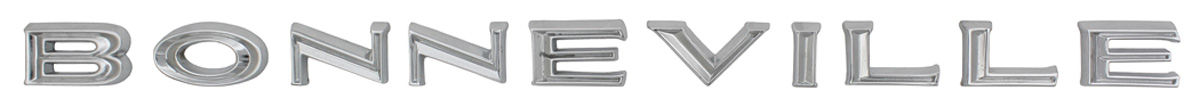 "Photo of Fender & Door Emblem, 1966 ""Bonneville"" Letters"