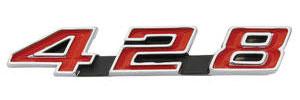 """1969-1969 Bonneville Grille Emblem, 1969 Bonneville """"428"""""""