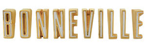"""Tail Panel Emblem, 1961 """"Bonneville"""" Letters"""