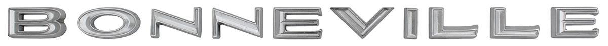 """Photo of Deck Lid Emblem, 1966 """"Bonneville"""" Letters"""