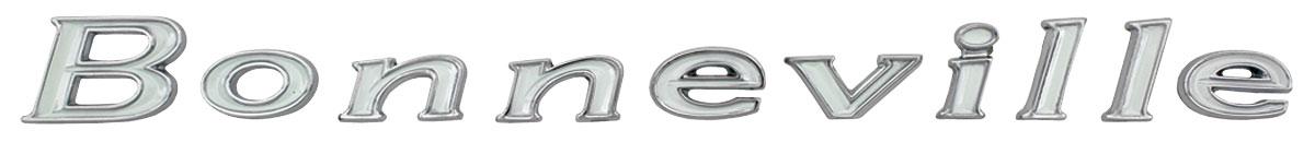 """Photo of Quarter Panel Emblem, 1967 """"Bonneville"""" Letters"""