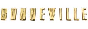 """1960-1960 Bonneville Tail Panel Letters, 1960 """"Bonneville"""""""